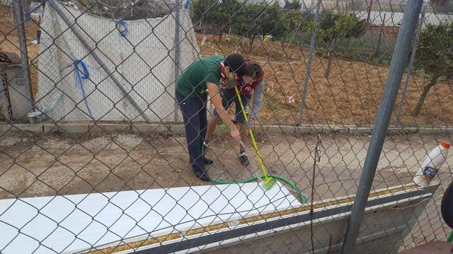Opbouwen nieuw verblijf honden Palili Img_5921