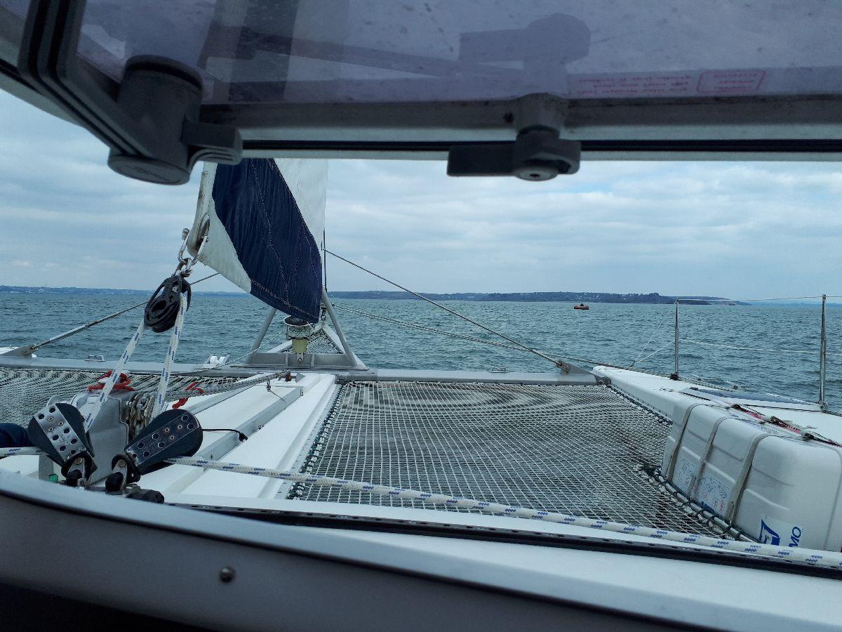 [ Marine à voile ] Catamaran Virginie Hériot voilier de l'Ecole Navale 1410