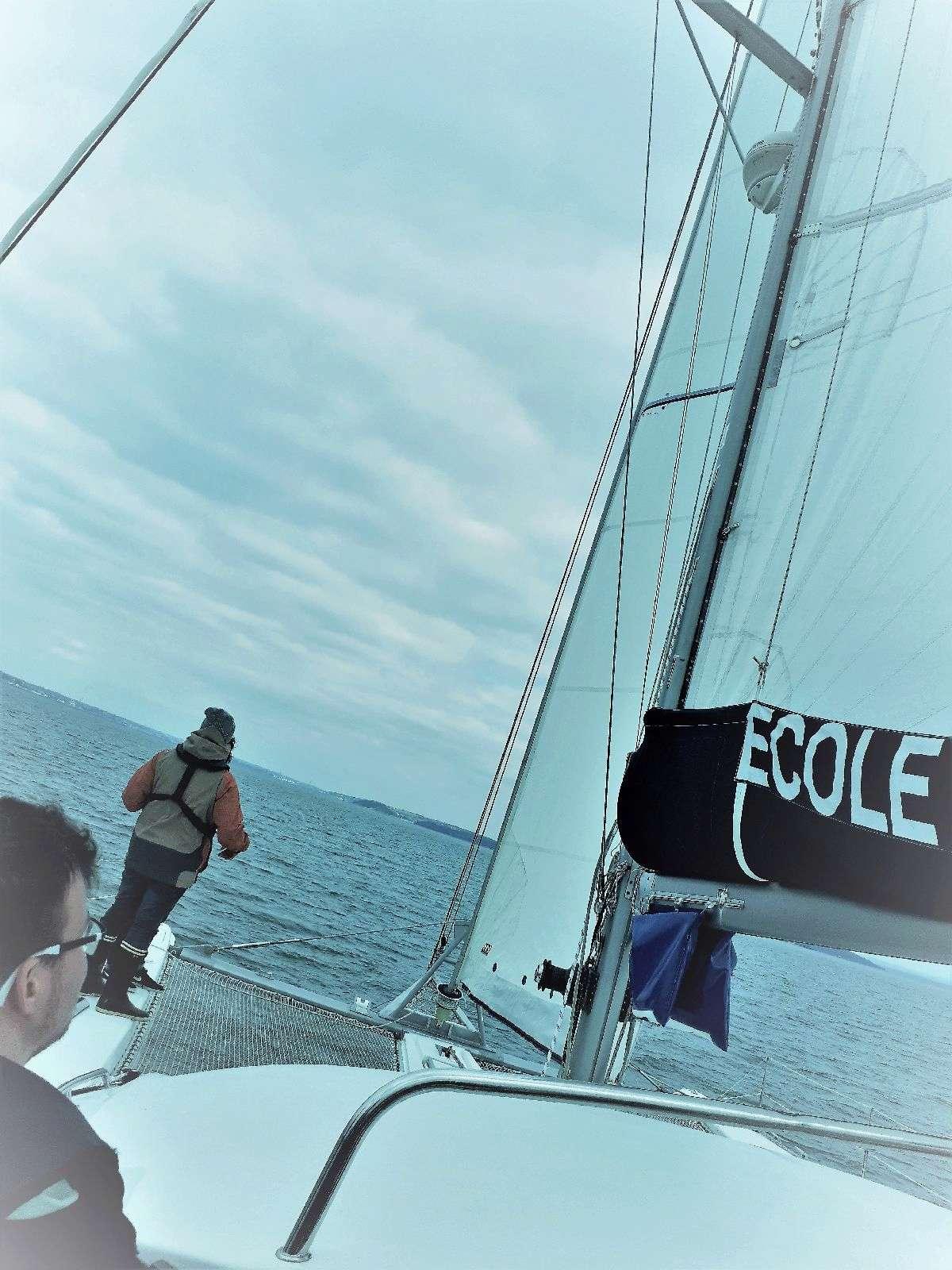 [ Marine à voile ] Catamaran Virginie Hériot voilier de l'Ecole Navale 25_pen10