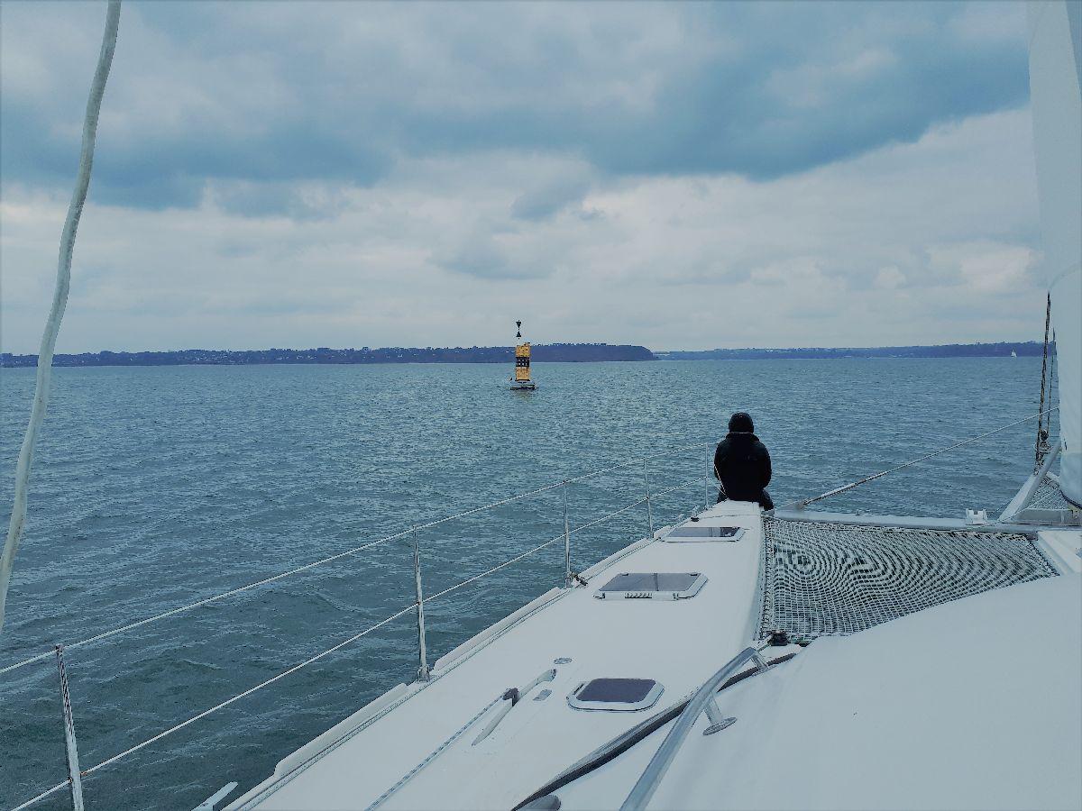 [ Marine à voile ] Catamaran Virginie Hériot voilier de l'Ecole Navale 2611