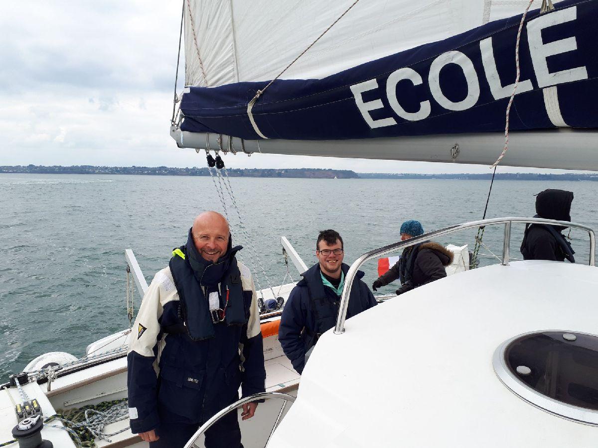 [ Marine à voile ] Catamaran Virginie Hériot voilier de l'Ecole Navale 28_et_10
