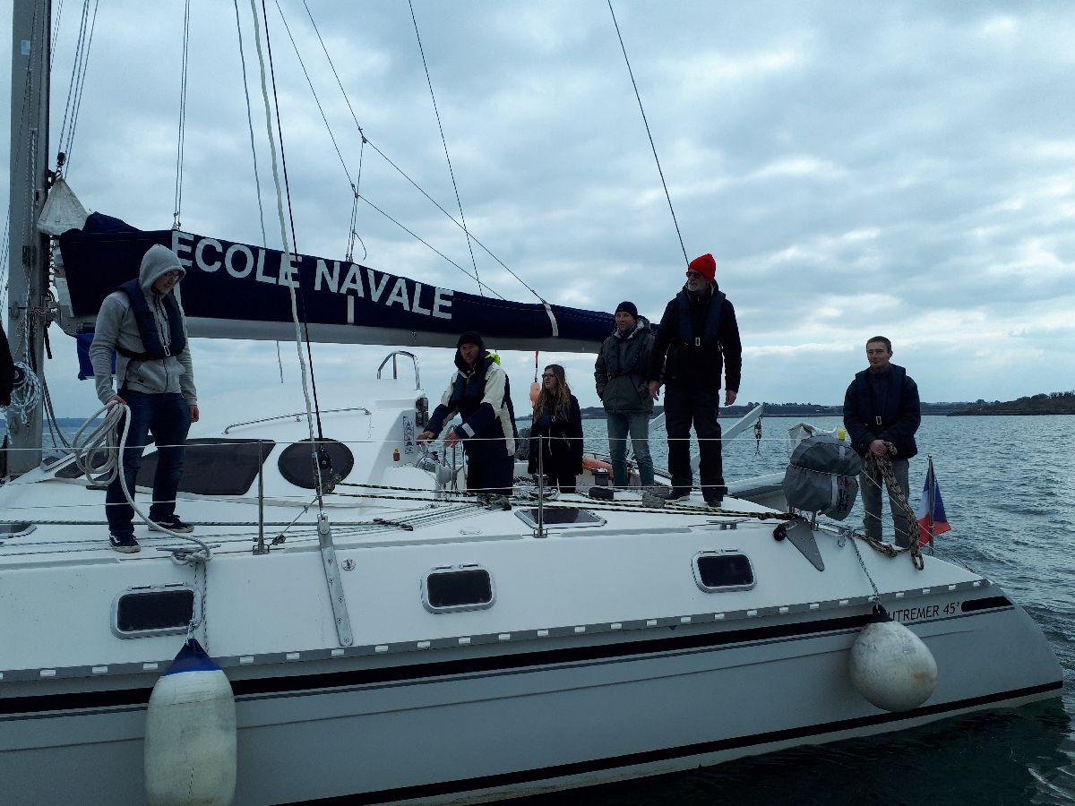 [ Marine à voile ] Catamaran Virginie Hériot voilier de l'Ecole Navale 416