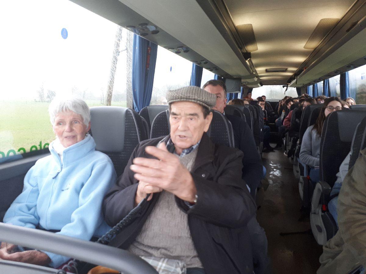 [ Histoire et histoires ] Rencontre lycéens Fouesnantais avec Edgar le Charentais (97 ans) mémoire vivante du maquis de Bir Acheim  4411