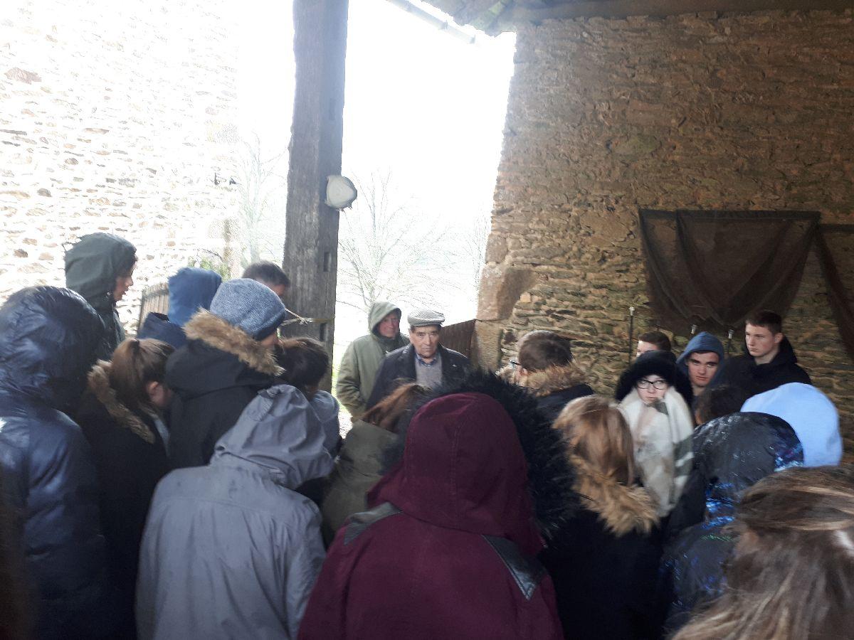 [ Histoire et histoires ] Rencontre lycéens Fouesnantais avec Edgar le Charentais (97 ans) mémoire vivante du maquis de Bir Acheim  5011