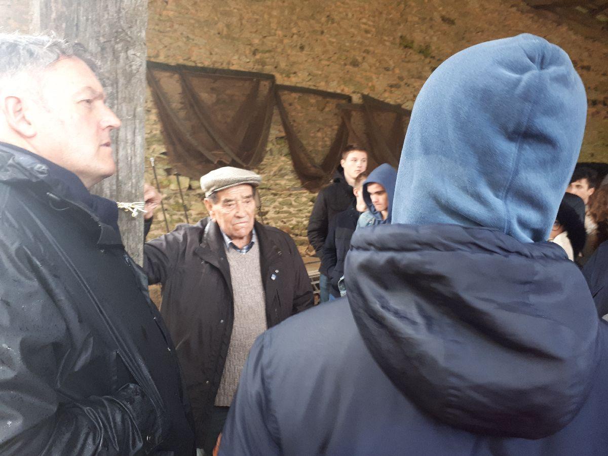 [ Histoire et histoires ] Rencontre lycéens Fouesnantais avec Edgar le Charentais (97 ans) mémoire vivante du maquis de Bir Acheim  5110