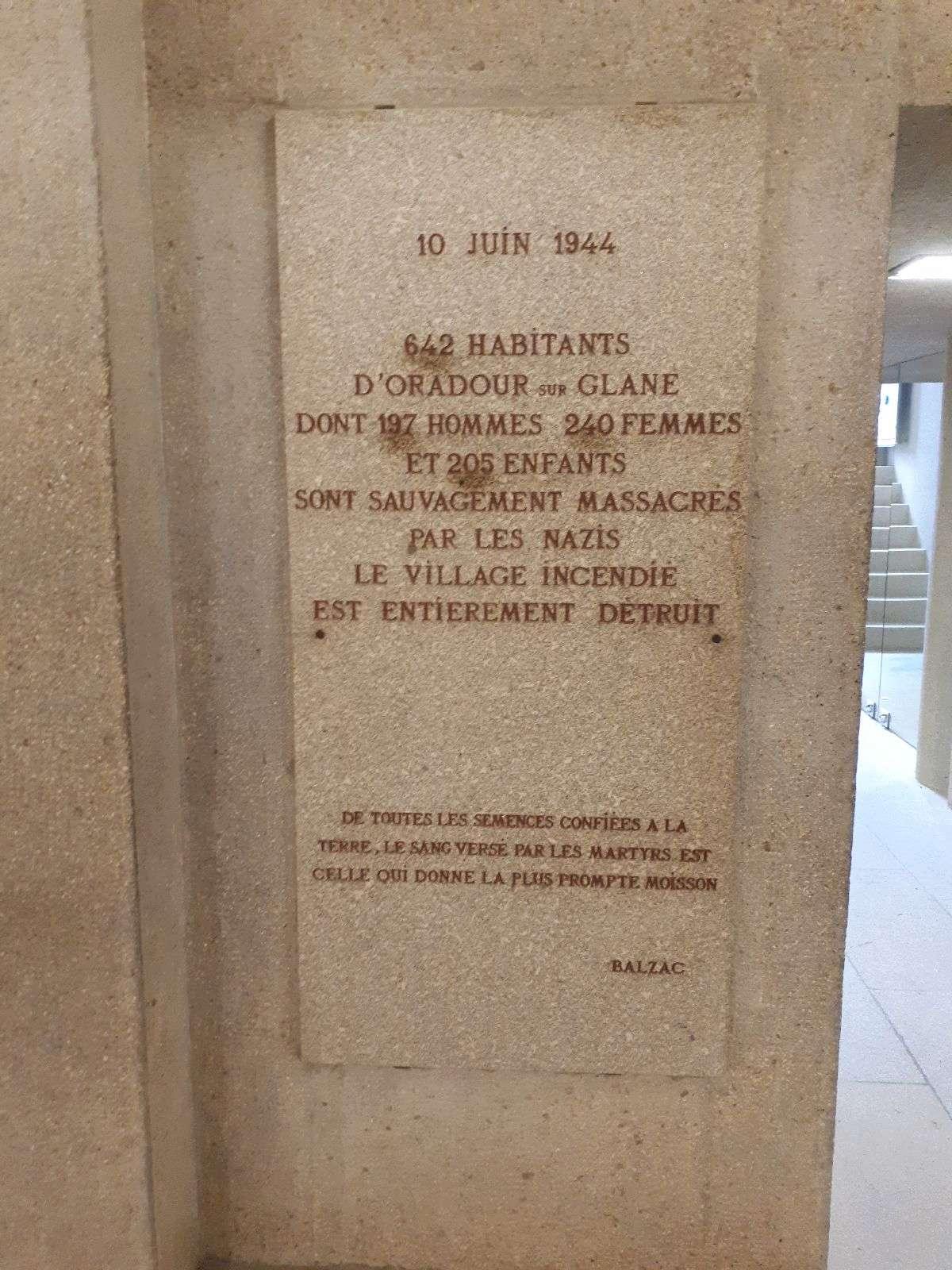 [ Histoire et histoires ]  Voyage pédagogique à Oradour-sur-Glane (87) avec des lycéens de Fouesnant 5810