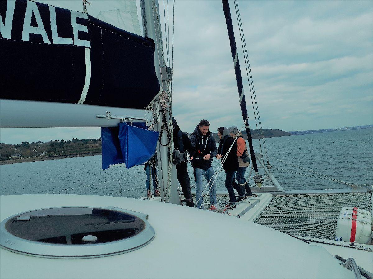 [ Marine à voile ] Catamaran Virginie Hériot voilier de l'Ecole Navale 8_alle10