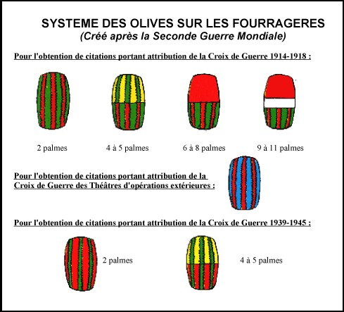 [ LES TRADITIONS DANS LA MARINE ] Question sur fourragère - Page 3 Olives10