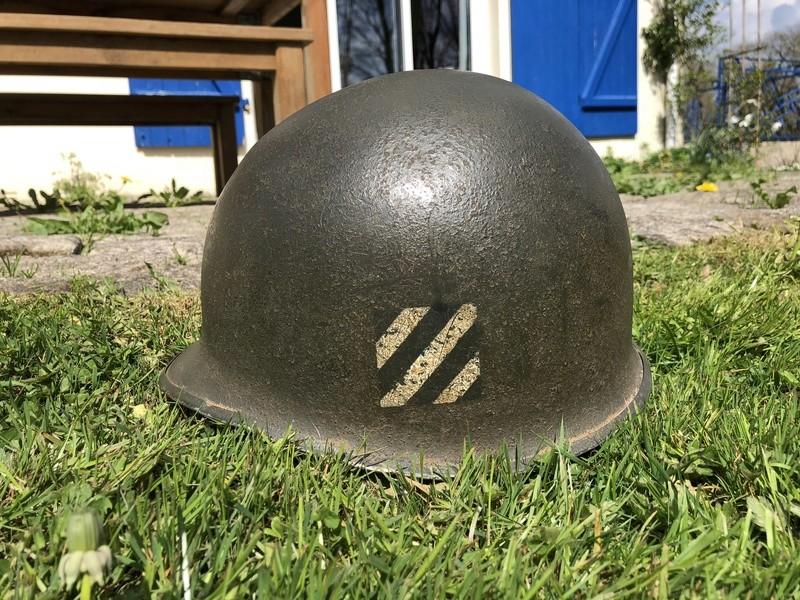 Casque US M1 3rd ID WW2 64b4c310