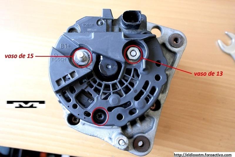 Alternador  Bosch 14 V  de 90 AMP Ki7oui11