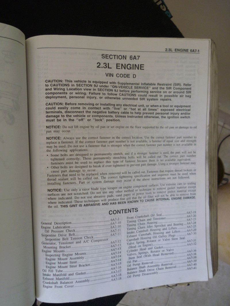 Chevrolet Cavalier  1995/Datos Manual Despiece P1080143