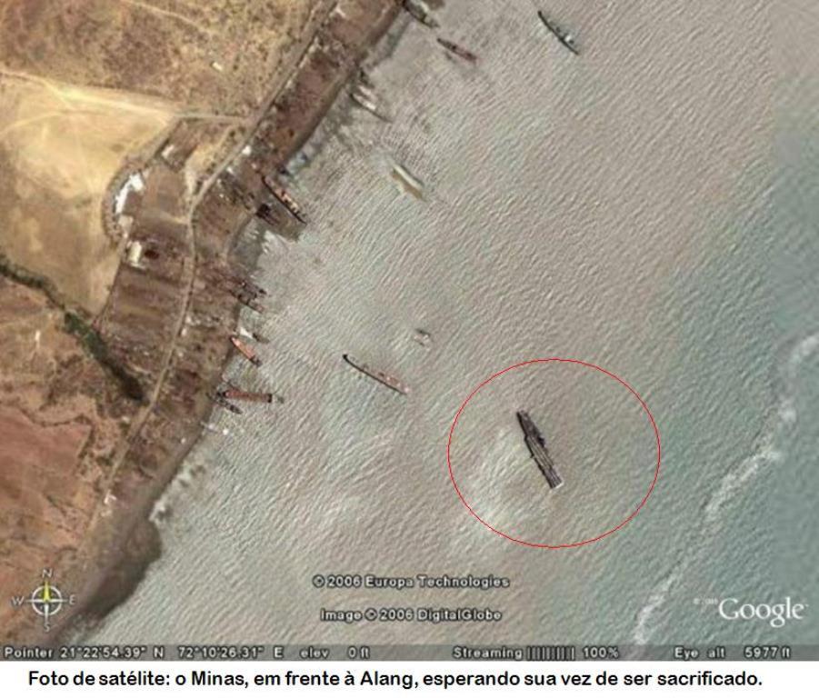 Porte-avions Minas Gerais « the end in Alang »  sur base Arromanches Heller 1/400 120