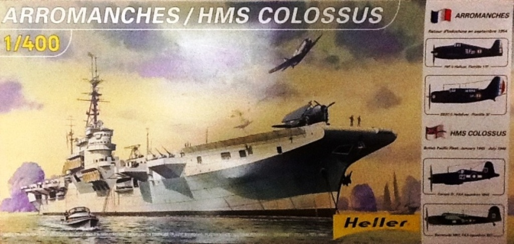 NAeL Minas Gerais base Arromanches/Colossus 1/400 Heller 1211