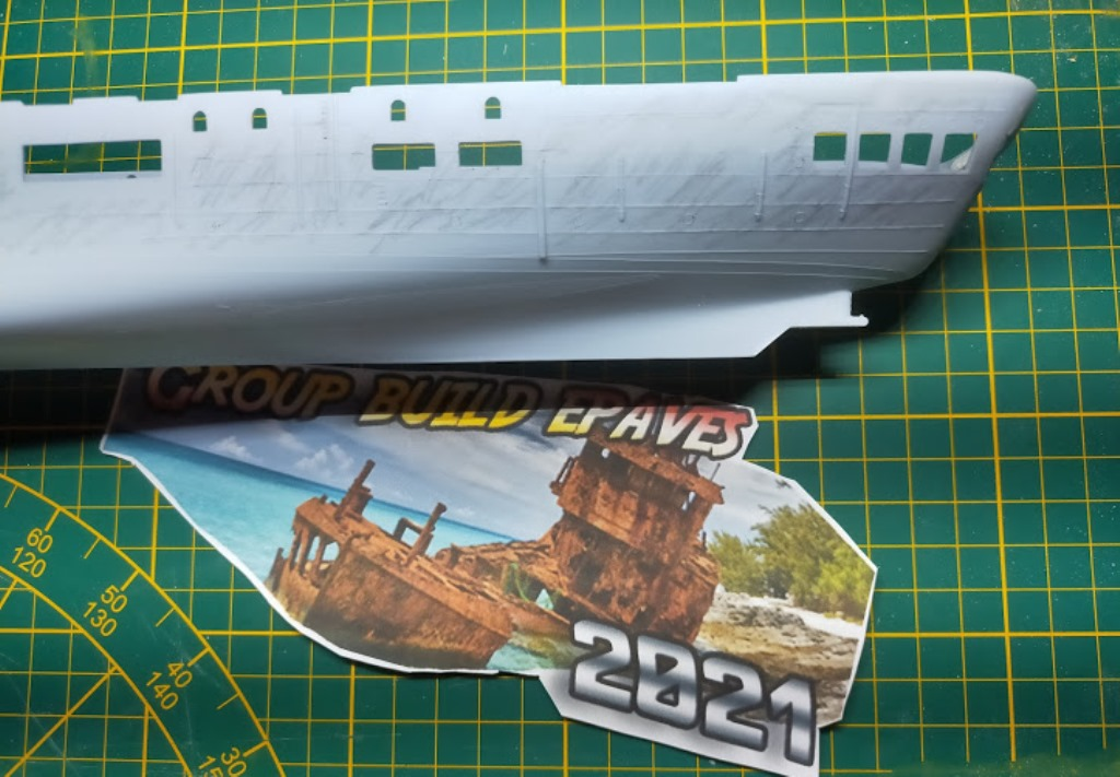 Porte-avions Minas Gerais « the end in Alang »  sur base Arromanches Heller 1/400 22a12