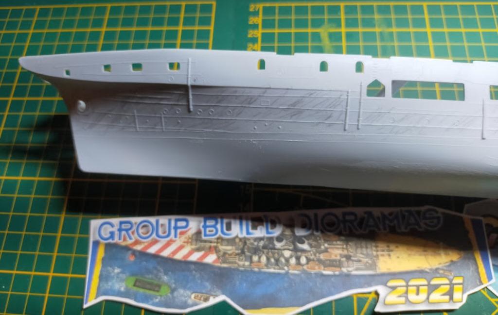 Porte-avions Minas Gerais « the end in Alang »  sur base Arromanches Heller 1/400 24a12