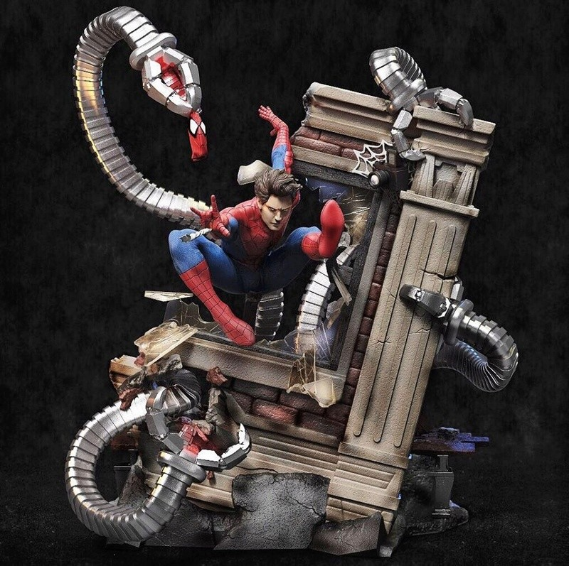 Mac Custom Statue - Diorama Spider-Man Vs Doc Octopus 0213e110