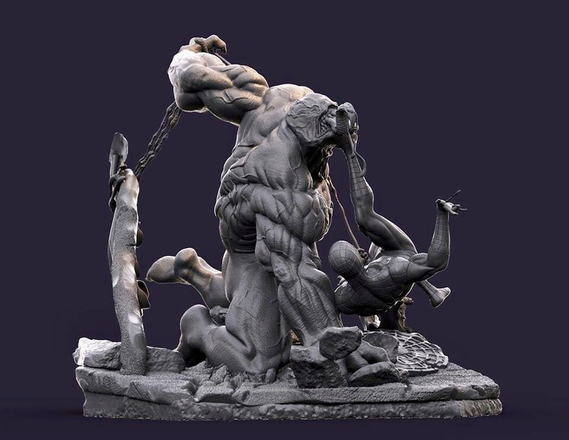 Gaetano Nicassio - Diorama Venom Vs Spider-Man 09b3e010