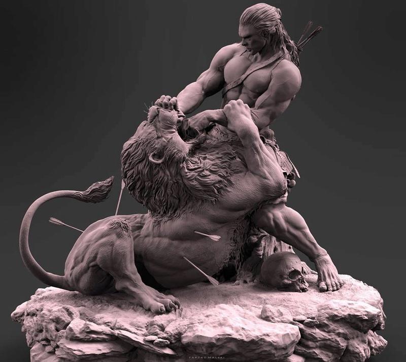 """Samson & the Lion"" by Farzad Maleki... 26095b10"