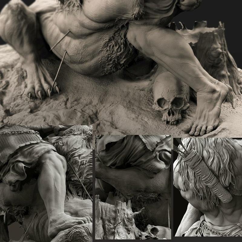 """Samson & the Lion"" by Farzad Maleki... 3969eb10"