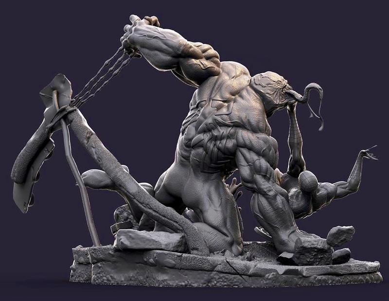 Gaetano Nicassio - Diorama Venom Vs Spider-Man 6fdfee10