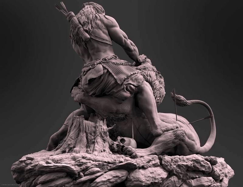"""Samson & the Lion"" by Farzad Maleki... 721d5310"
