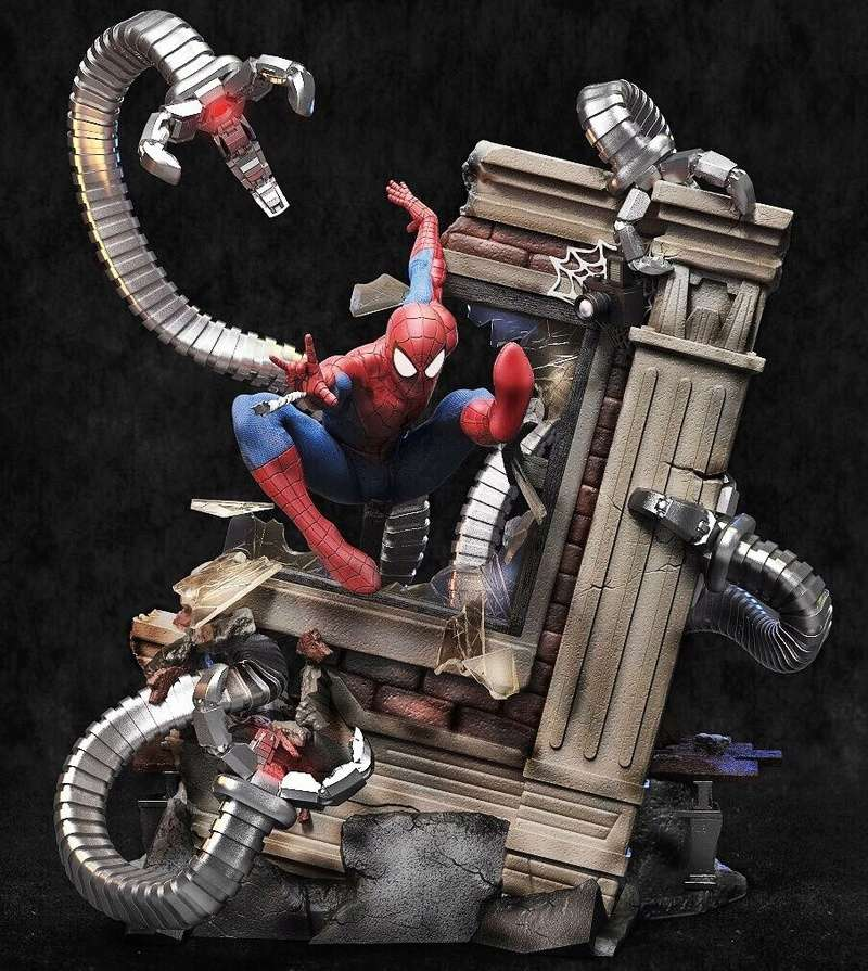 Mac Custom Statue - Diorama Spider-Man Vs Doc Octopus 81b2a810