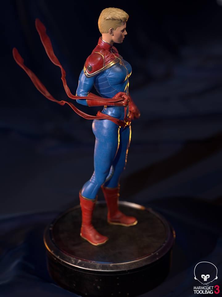 """Captain Marvel""  by Aditya Parab 82907c10"