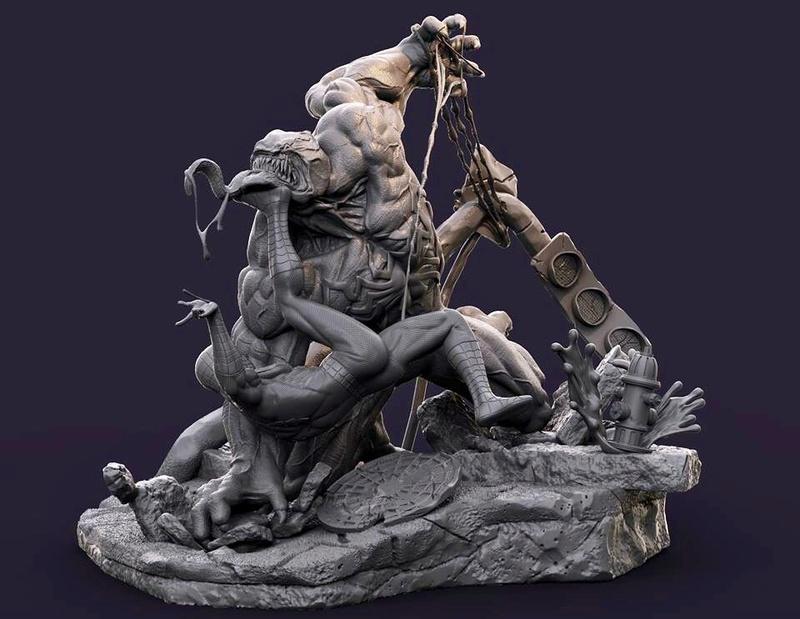 Gaetano Nicassio - Diorama Venom Vs Spider-Man 82fb8210