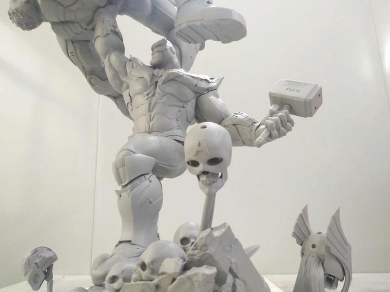 Xionart - Thanos Vs Hulk diorama 8bd81c10