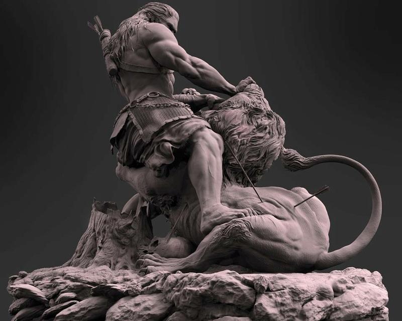 """Samson & the Lion"" by Farzad Maleki... 938d1d10"