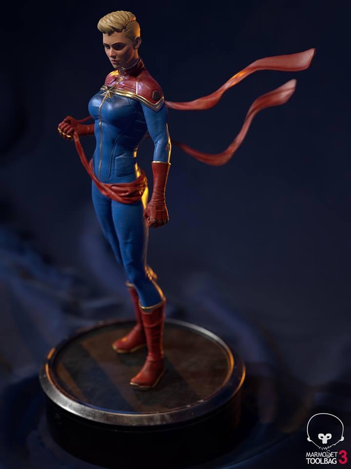 """""""Captain Marvel""""  by Aditya Parab 93b4aa10"""