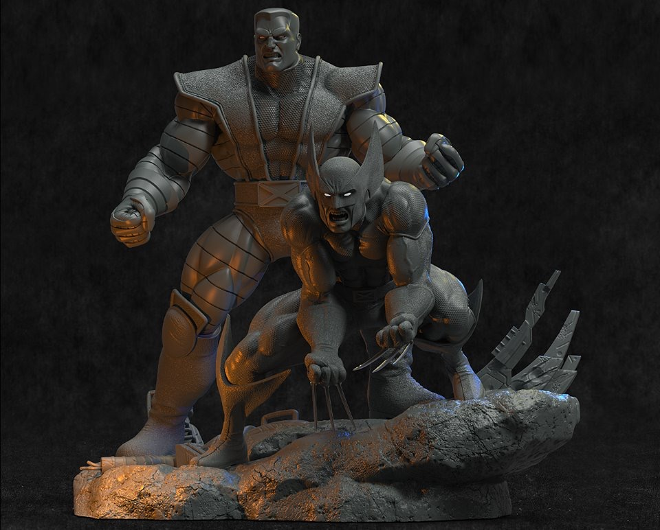 Avi AY Sculpture - Diorama Colossus & Wolverine A32d0310