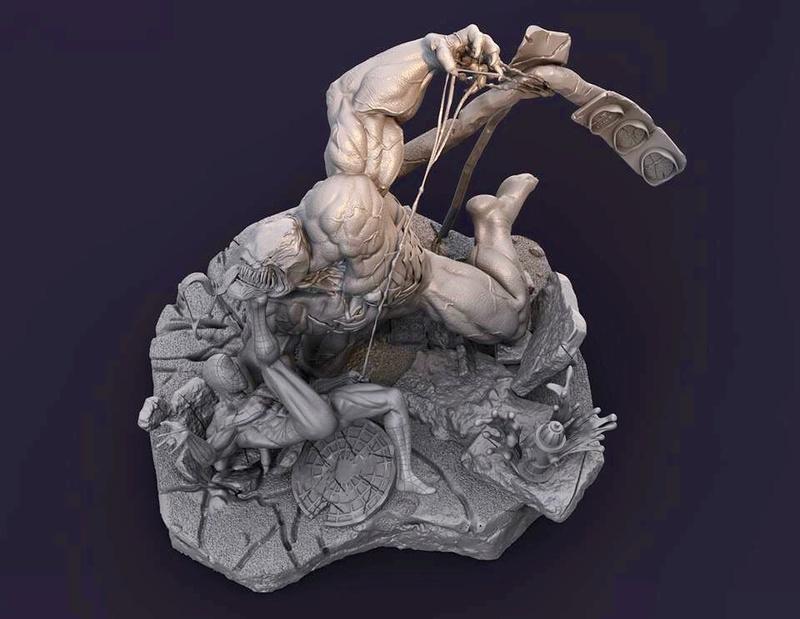 Gaetano Nicassio - Diorama Venom Vs Spider-Man B09d5410