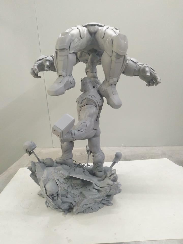 Xionart - Thanos Vs Hulk diorama Cb252910