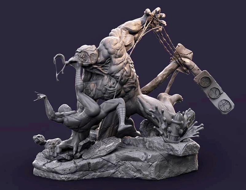 Gaetano Nicassio - Diorama Venom Vs Spider-Man Cdf7c310