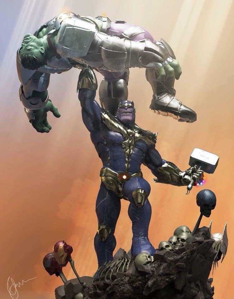Xionart - Thanos Vs Hulk diorama E1626010