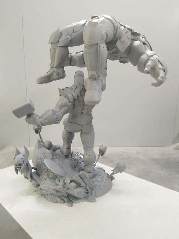 Xionart - Thanos Vs Hulk diorama Eeb91d10
