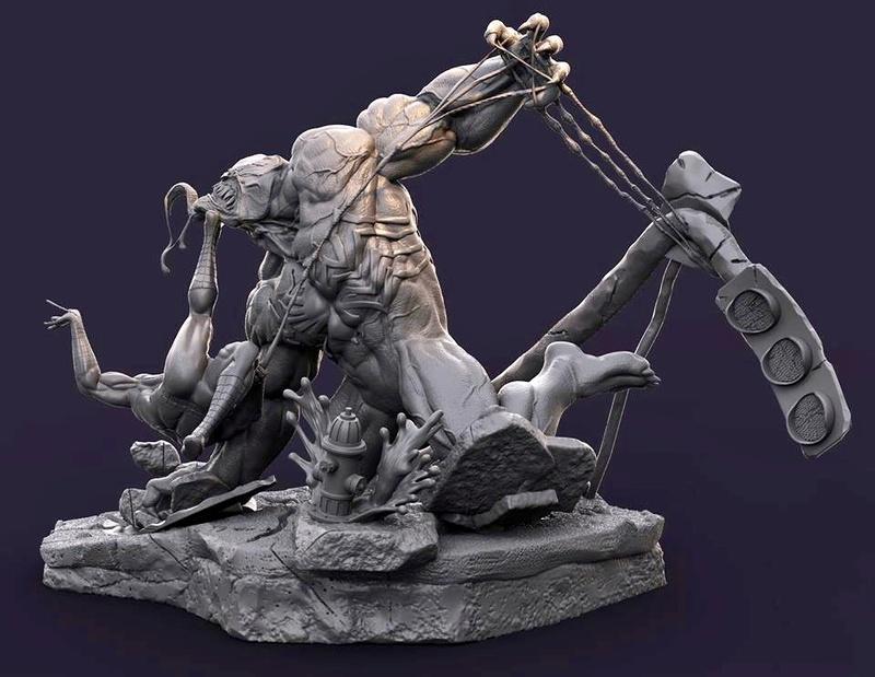 Gaetano Nicassio - Diorama Venom Vs Spider-Man Fd403d10