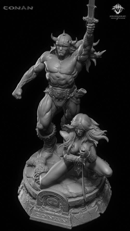 Thief warrior gladiator king - Conan & Valeria Image18