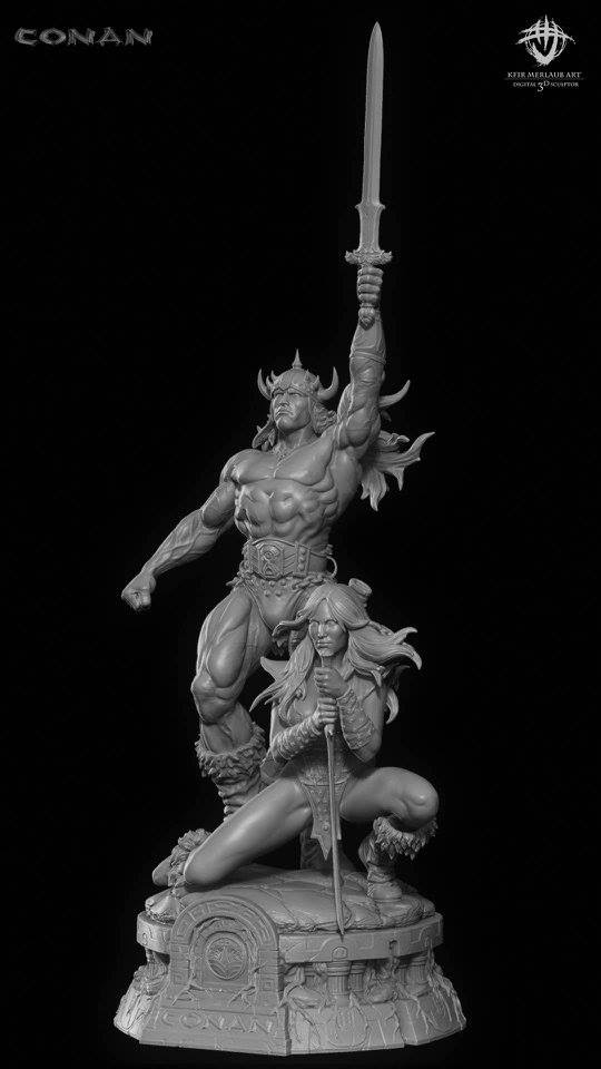 Thief warrior gladiator king - Conan & Valeria Image22
