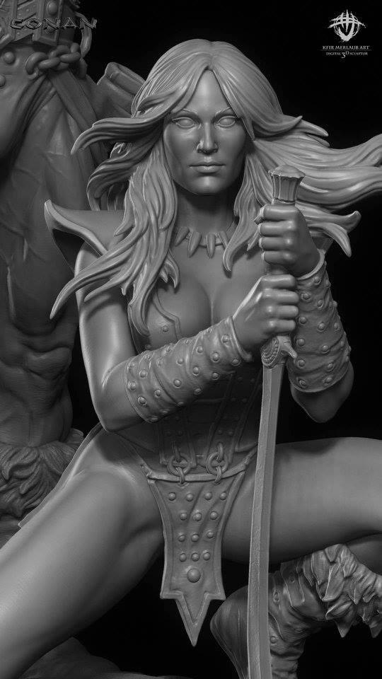 Thief warrior gladiator king - Conan & Valeria Image28