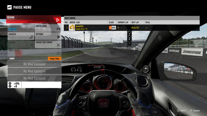 FM7 Time Attack | Stock Car Challenge #10 (2016 Civic Type R) 1-21-210