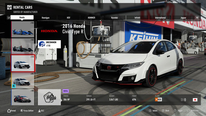 FM7 Time Attack | Stock Car Challenge #10 (2016 Civic Type R) 1-21-211