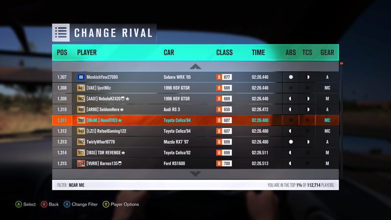 FH3 Time Attack | Stock Car Challenge #31 (1994 Toyota Celica GT-Four ST205) *Car change, event extended 1 day, this event only* 3-12-210