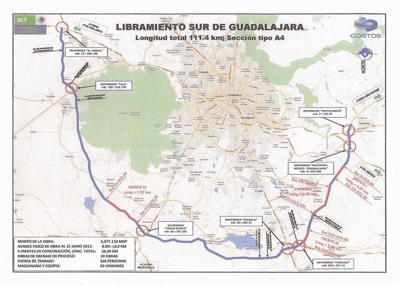 Exits on the new Guadalajara - Puerto Vallarta Macrolibramiento? Macrol10