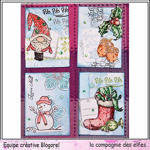 Challenge du 1er décembre sketch ATC. Blogor62
