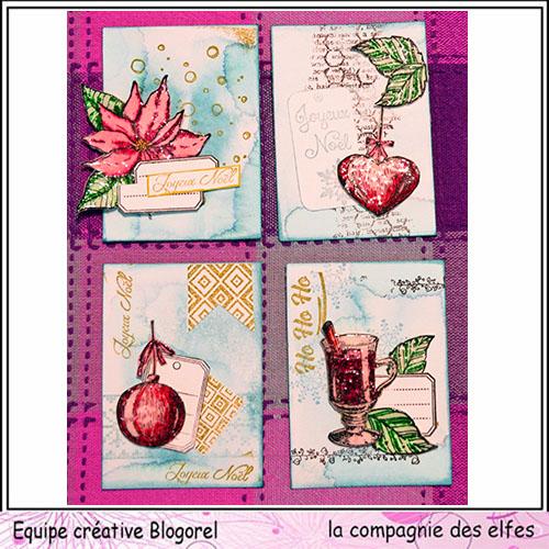 Challenge du 1er décembre sketch ATC. Blogor63