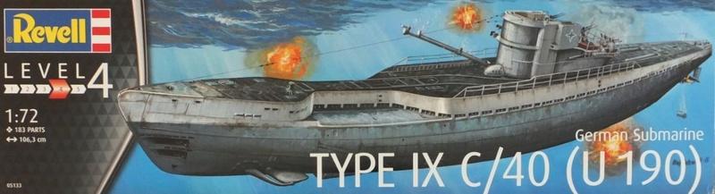 U-boot typ IX C/40 (U-190) Revell 1/72 _5710