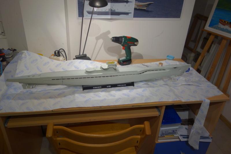 U-boot typ IX C/40 (U-190) Revell 1/72 Dsc04290