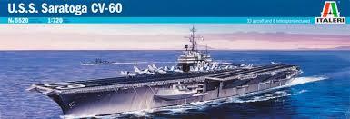 Diorama USS Saratoga - Italeri 1/720 Tylych10